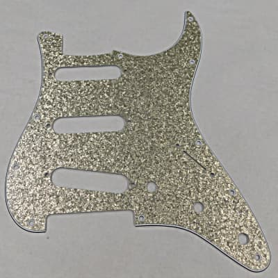 D'Andrea Pro Stratocaster Pickgaurd S/S/S 11 HOLE 4 Ply  Made in the USA 2019 Vintage Sparkle for sale