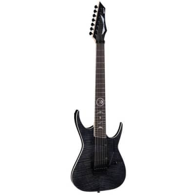 Rusty Cooley 7 String Flame Top Trans Black for sale