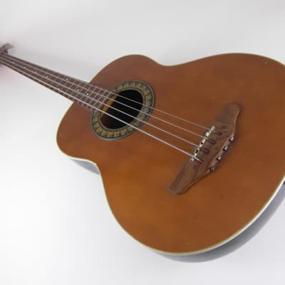 seltener Rondo Akustikbass 70er roundback bass mit passivem Tonabnehmer preamp italy for sale