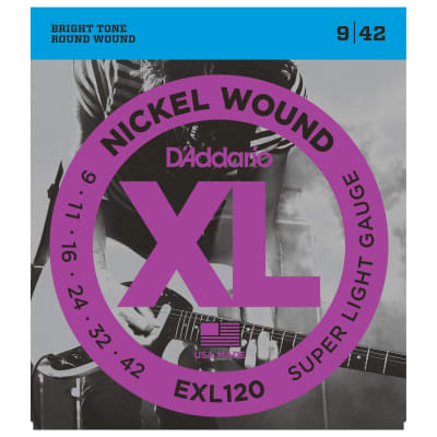 D'Addario XL Super Light Electric Strings (9-42)