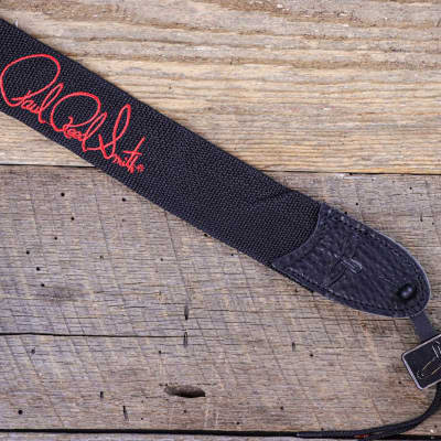 """PRS Signature Logo 2"""" Poly Guitar Strap Red"""