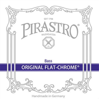 Pirastro Original Flat Chrome 3/4 Double Bass Set Solo tuning