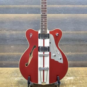 Duesenberg Mike Campbell II Alliance Series Hollow Red El. Guitar w/Case #132770 for sale