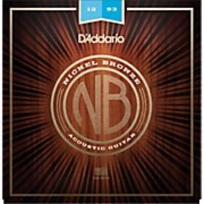 D'Addario NB1253 Light Gauge Nichel Bronze Acoustic Guitar Strings .012 - .053