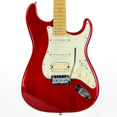 2000 Fender American Deluxe Fat Strat HSS Stratocaster Floyd Rose Mini Locking Bridge - USA Made, Crimson Red for sale