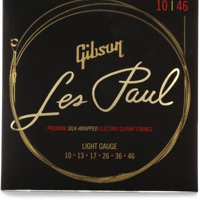 Gibson Les Paul Premium Electric Guitar Strings, Light 10-46