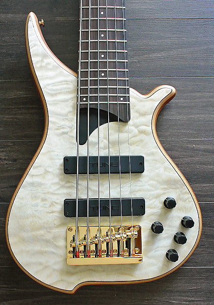 tune hatsun twb63 ob 6 string bass quilted maple top reverb. Black Bedroom Furniture Sets. Home Design Ideas
