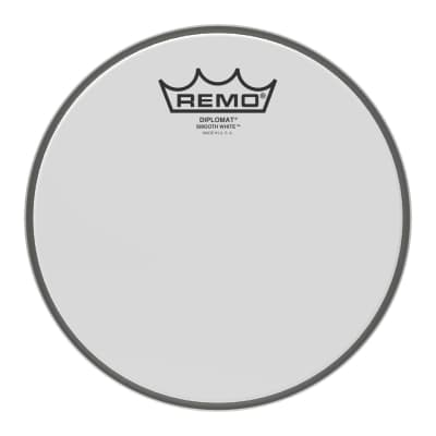 "Remo - 8"" Diplomat Smooth White Drumhead - BD-0208-00- (Please allow 6-8 weeks for delivery)"