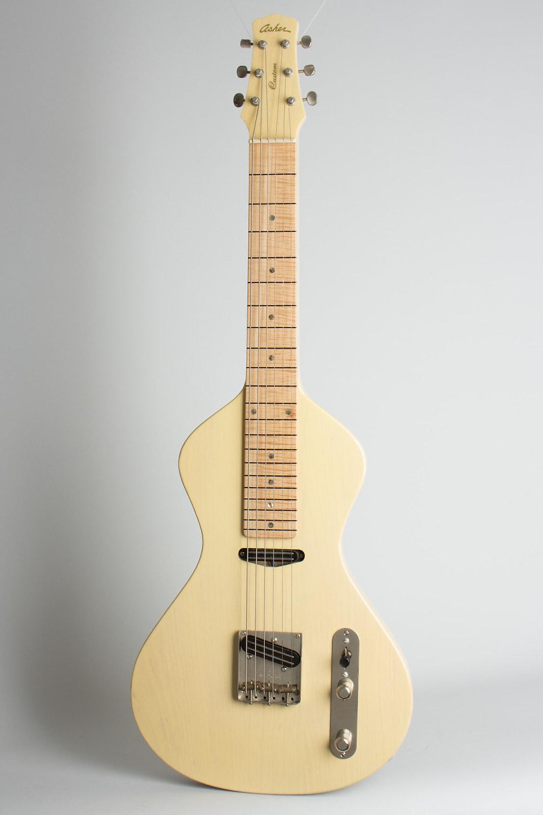 Asher  Custom Slidecaster T Lap Steel Electric Guitar (2007), ser. #335, original black tolex hard shell case.