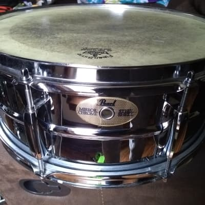 PEARL  Mirror Chrome Snare Drum Chrome on Steel