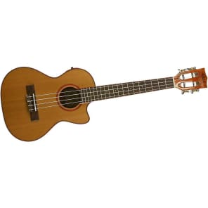 Kala KA-ATP-CTG-CE Solid Acacia Series Tenor Ukulele w/ Cedar Top, Cutaway, and EQ