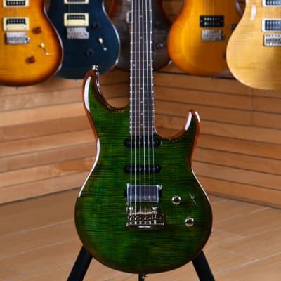 Music Man Luke III BFR HSS Rosewood Fingerboard Luscious Green Flame for sale
