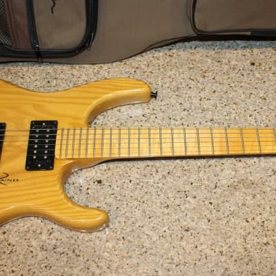raines headless guitar flame neck for sale