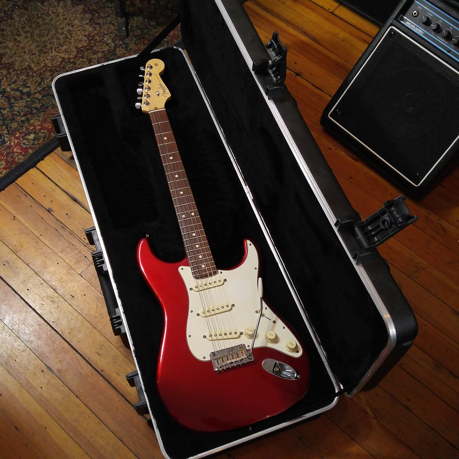 Fender American Standard Stratocaster 2013 Candy Apple Red Rosewood Neck  #US13084237 w/Fender Case