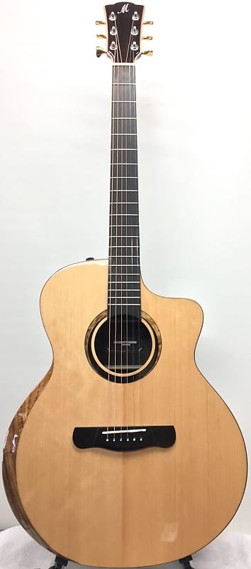 "Merida 41"" solid spruce and mahogany ""Cupid"" cutaway  Acoustic-Electric Guitar with beveled arm rest, eq image"