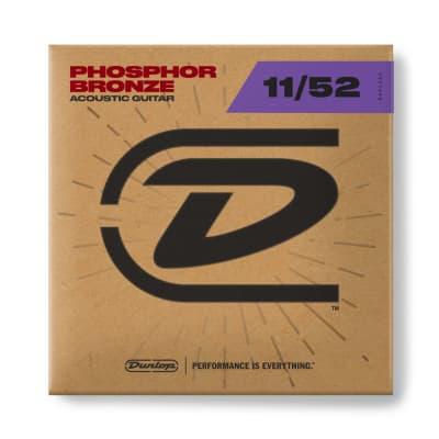Dunlop PHOSPHOR BRONZE ACOUSTIC GUITAR STRINGS 11-52