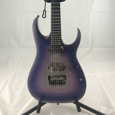 Ibanez RGA61AL Axion Label Electric Guitar Indigo Aurora Burst Flat