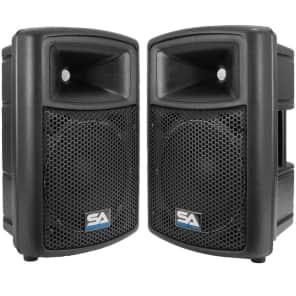 "Seismic Audio NPS-10PAIR Passive 1x10"" Lightweight Molded 300w Speakers (Pair)"
