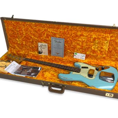 Fender  Fender Custom Shop 1960 Jazz Bass Relic Daphne Blue for sale