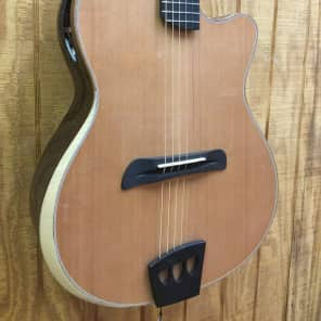 Batson Gypsy Concert Acoustic Electric Guitar Solid Cedar Top w Hardshell Case for sale
