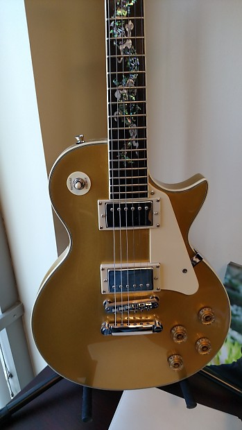 jay turser les paul 2013 gold top with dragon inlay reverb. Black Bedroom Furniture Sets. Home Design Ideas