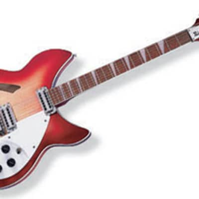Rickenbacker C Series Hollow Body 12 string Electric Guitar, Double Bound, FireGlo W/Case 360/12C63 for sale