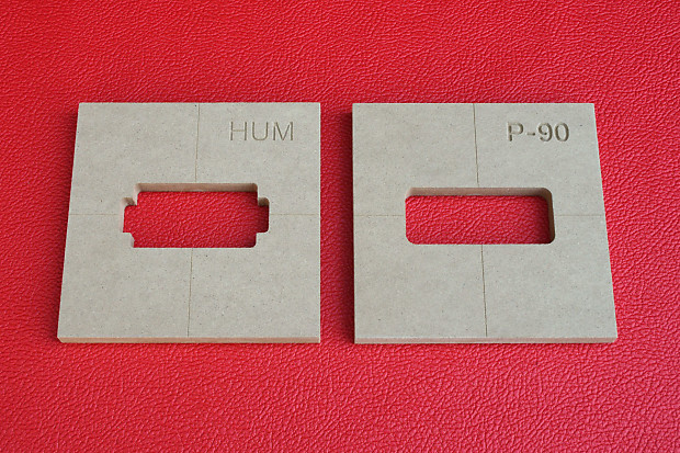 Router Templates | Humbucker And P 90 Pickup Guitar Router Templates Combo Reverb