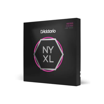 D'Addario NYXL45100 Nickel Wound Bass Strings, Reg. Light, Long Scale
