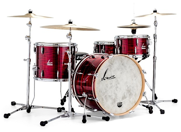 New sonor vintage series red oyster 20x14 12x8 14x12 for 14x12 floor tom