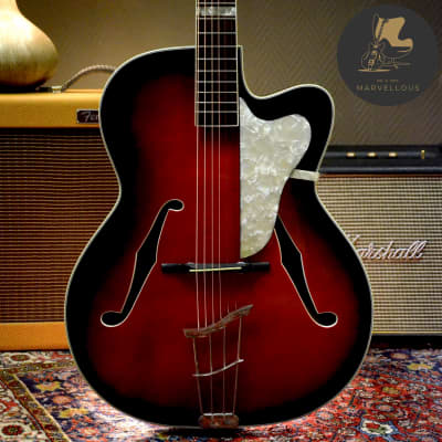 Fasan Archtop 1950s Redburst for sale