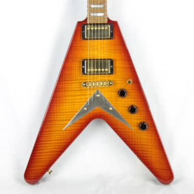 2004 Hamer USA KORINA Vector FLAMETOP '59 Burst Flying V Custom Order! ONE OF A KIND! for sale