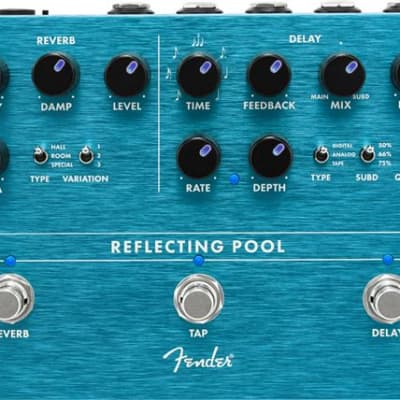 Fender Reflecting Pool Delay Reverb Effects Pedal