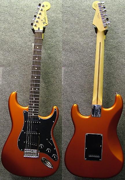 Fender Standard Stratocaster Satin Flame Orange Reverb