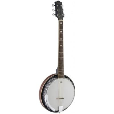 Stagg BJM30 G 6-string Deluxe Bluegrass Guitar Banjo for sale