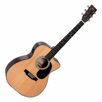 Sigma Acoustic Guitar Solid Mahogany Top with Pickup 000MC-15E for sale