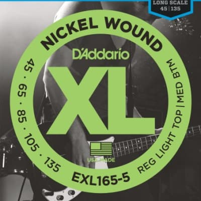 D'Addario EXL165-5 Bass Strings (5) .045 - .135