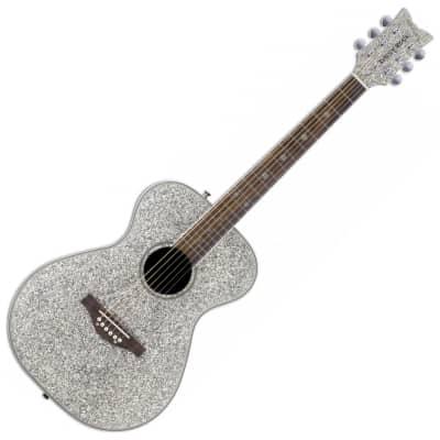 Daisy Rock Pixie Acoustic Guitar Silver Sparkle for sale