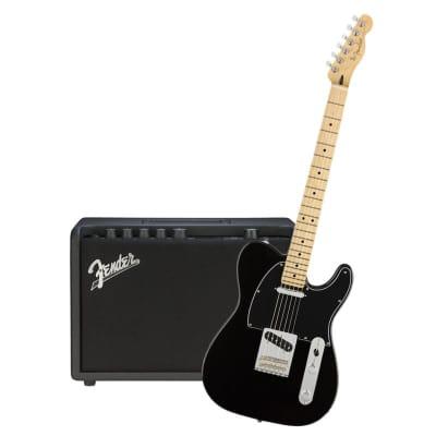 Fender Player Telecaster Black Maple Neck & Fender Mustang GT 40 Bundle for sale
