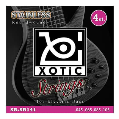 Xotic Stainless Roundwound Bass Strings - 4 String .045 .065 .085 .105 - Quick Shipping