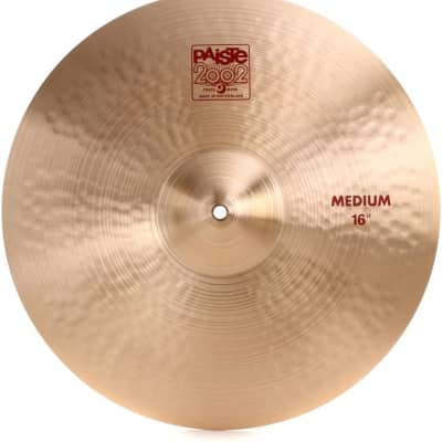 "Paiste 16"" 2002 Crash Cymbal Traditional"