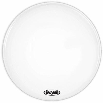 "Evans BD16MX1W MX1 White Marching Bass Drum Head - 16"""