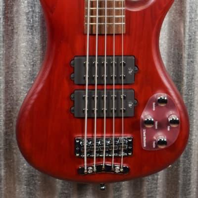 Warwick Rockbass Corvette $$ Double Buck Burgundy 5 String Bass & Bag #0518