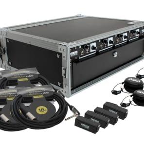 Elite Core Audio EC-HA4X4-DRP Four User 4-Channel Headphone/Line Distribution Amp System