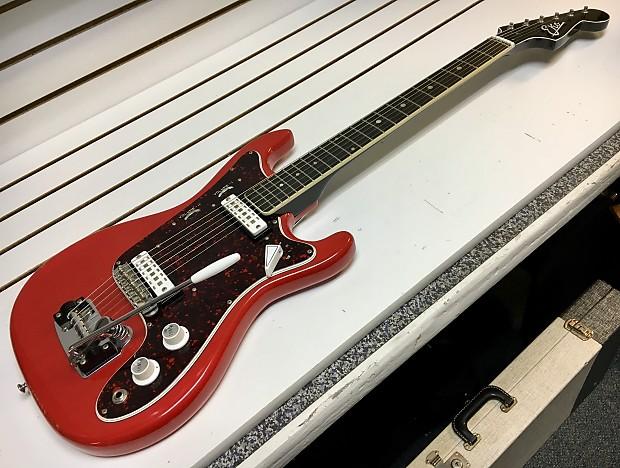 1960s eko vintage cobra ii electric guitar w ohsc red made reverb. Black Bedroom Furniture Sets. Home Design Ideas