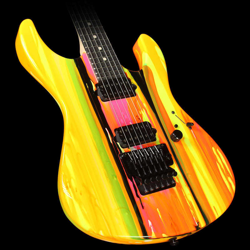 black neon electric guitar - photo #25
