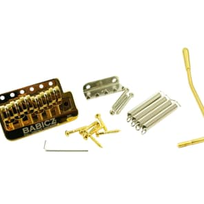 Babicz Full Contact Gold Narrow Spacing fits MIM & some Squier Strat FCHSTRATGD for sale