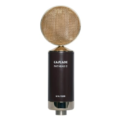 Cascade Fat Head II Active/Passive Ribbon Microphone in Brown Gold