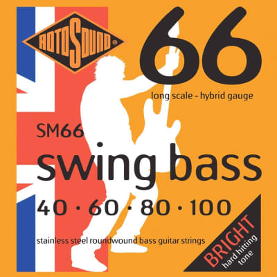 Rotosound SM66 Swing Bass Trubass 4-String Roundwound Bass Strings .40-100