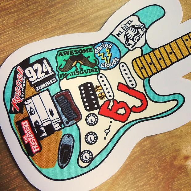 Green Day Billie Joe Armstrong Famous Blue Stratocaster Vinyl Reverb