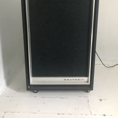 Heathkit TA-17 Guitar Bass PA Amplifier Head & Cabinet Solid State 1970's ? black for sale